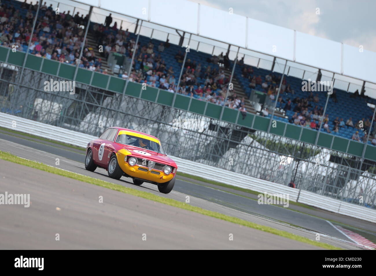 21st July 2012, Silverstone, UK Alex Furiani's Alfa Romeo  Sprint GTA during the Alan Mann Trophy for under 2 Litre Stock Photo