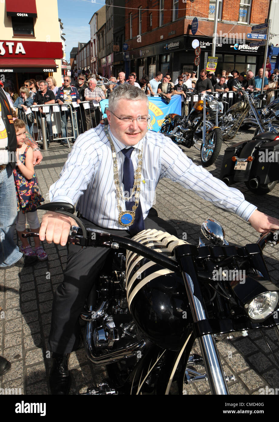 Waterford Motorcycle Fest 2012 Ireland - Stock Image