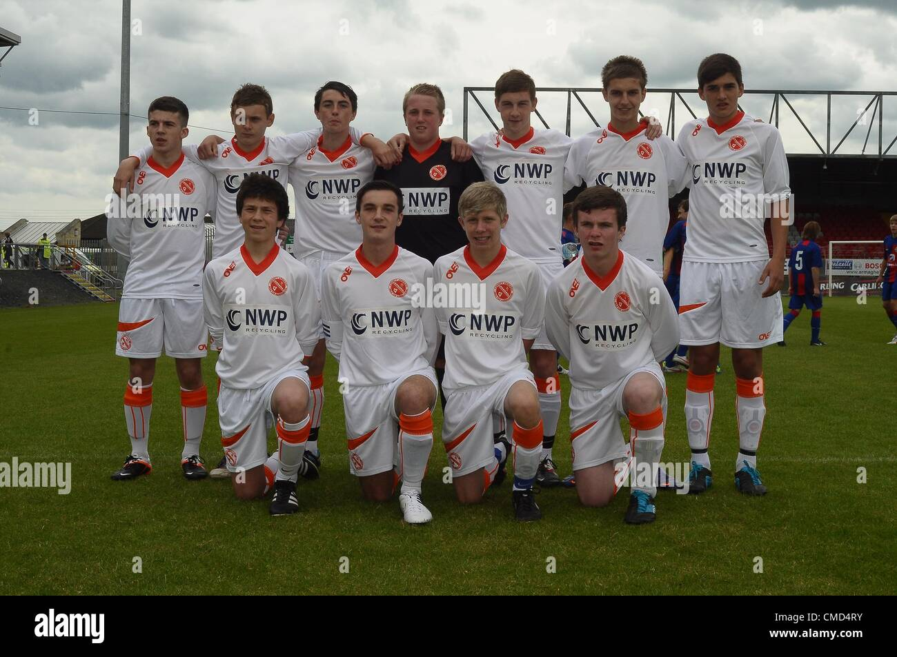 Co.Armagh County Armagh 2 KSCA Moscow 2 Milk Cup Junior Tournament, Shamrock Park, Portadown, N.Ireland  21/07/2012 - Stock Image
