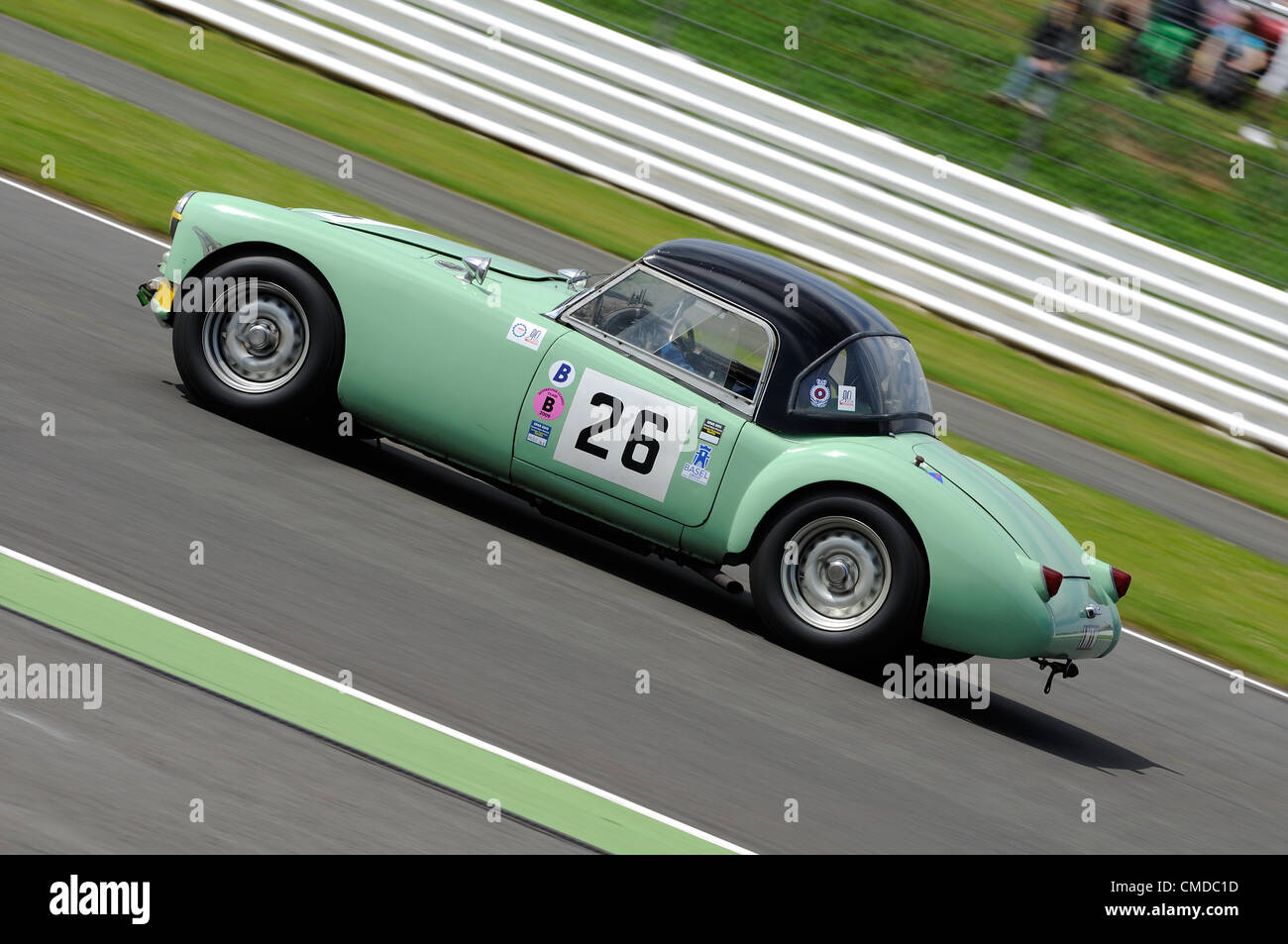 22nd July 2012, Silverstone, UK.  Mark Daniell and Matthew Moore's MGA Twincam during the Royal Automobile Club - Stock Image