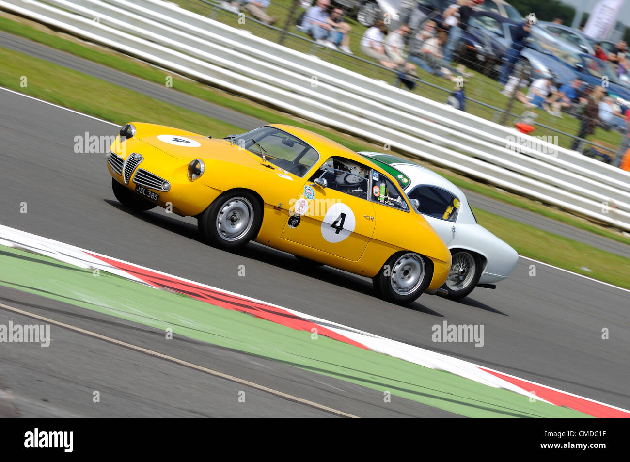 22nd July 2012, Silverstone, UK.  Paul Chase-Gardener's Alfa Romeo Giulietta overtakes during the Royal Automobile - Stock Image