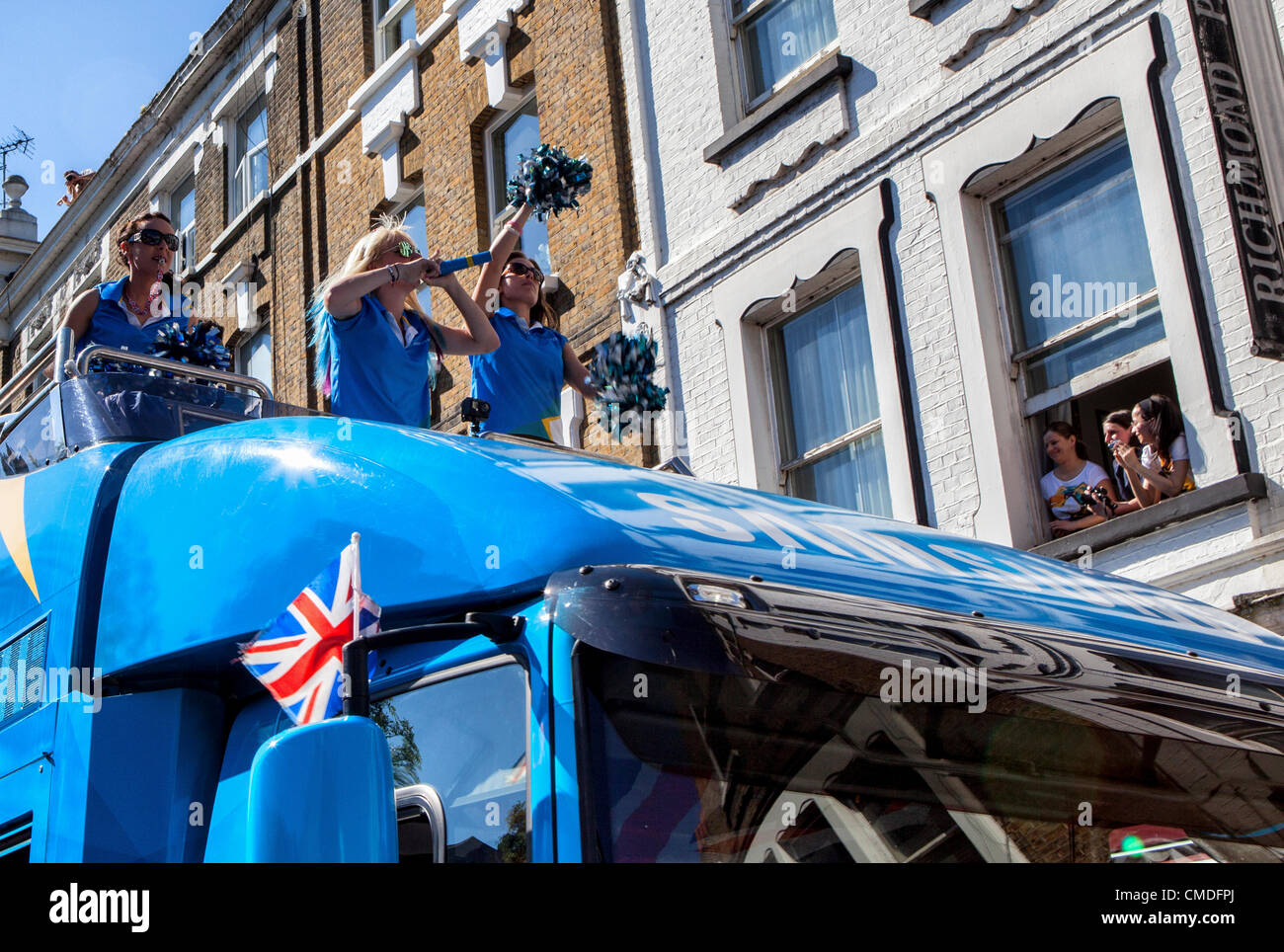 Hill Street, Richmond Upon Thames,London, UK, Tuesday 24th July 2012 Sponsors of the Olympics, Samsung, took part - Stock Image