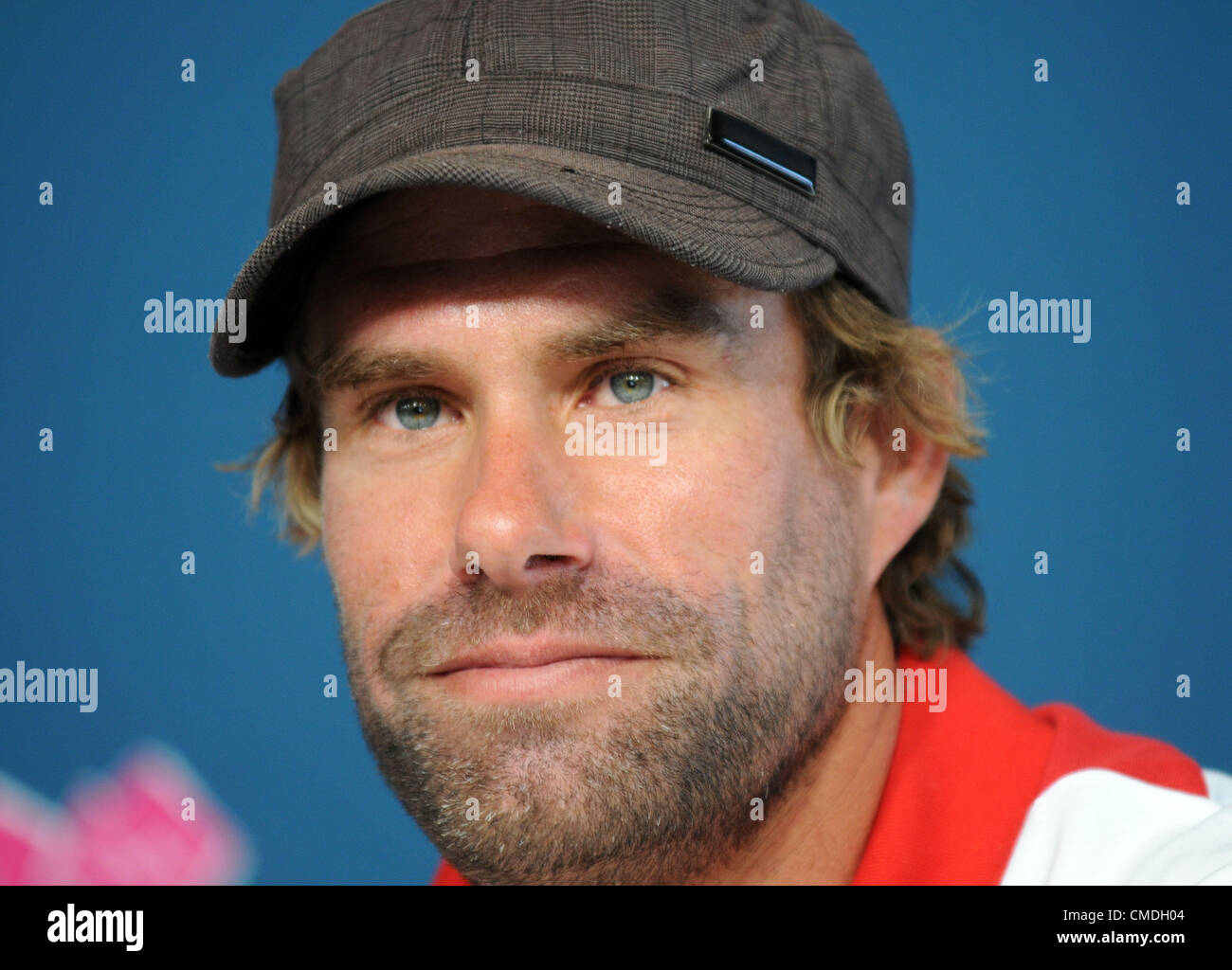 Iain Percy, Olympic Sailing press conference - Stock Image