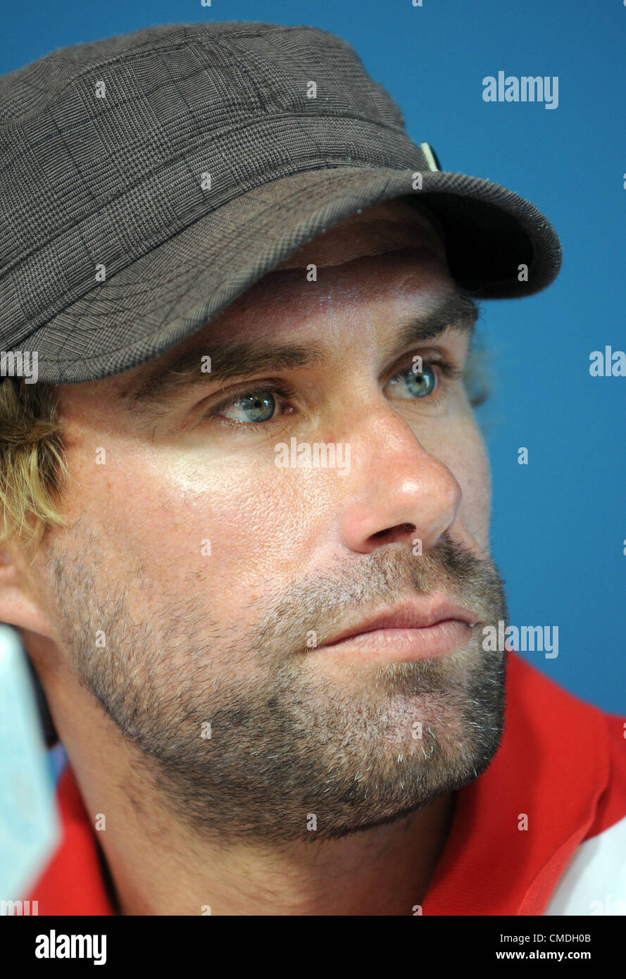 Olympic Sailing press conference, Iain Percy - Stock Image