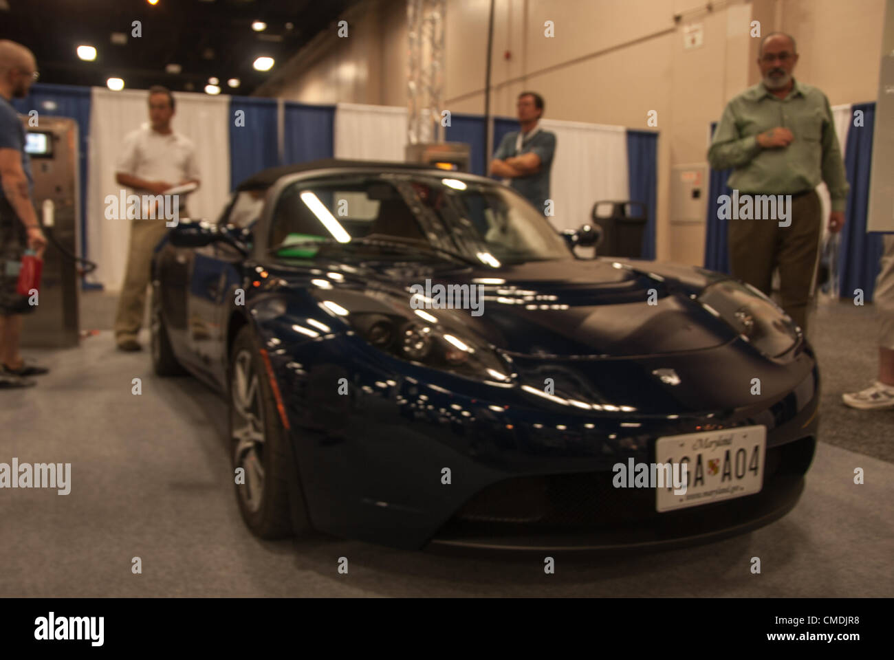 July San Antonio Texas USA Spectators Look Over The - Car expo usa