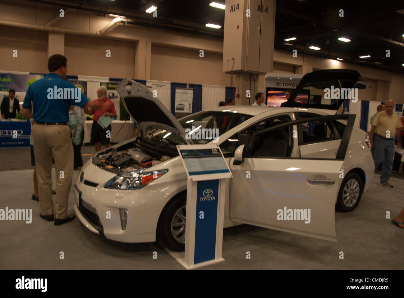 July San Antonio Texas USA Toyota Prius An Electric Car - Car expo usa