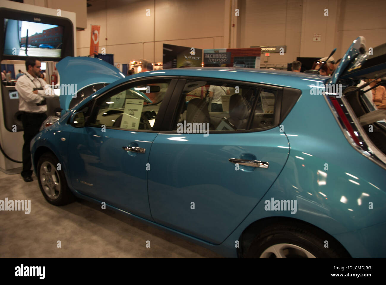 July San Antonio Texas USA Nissan Leaf An Electric Car - Car expo usa