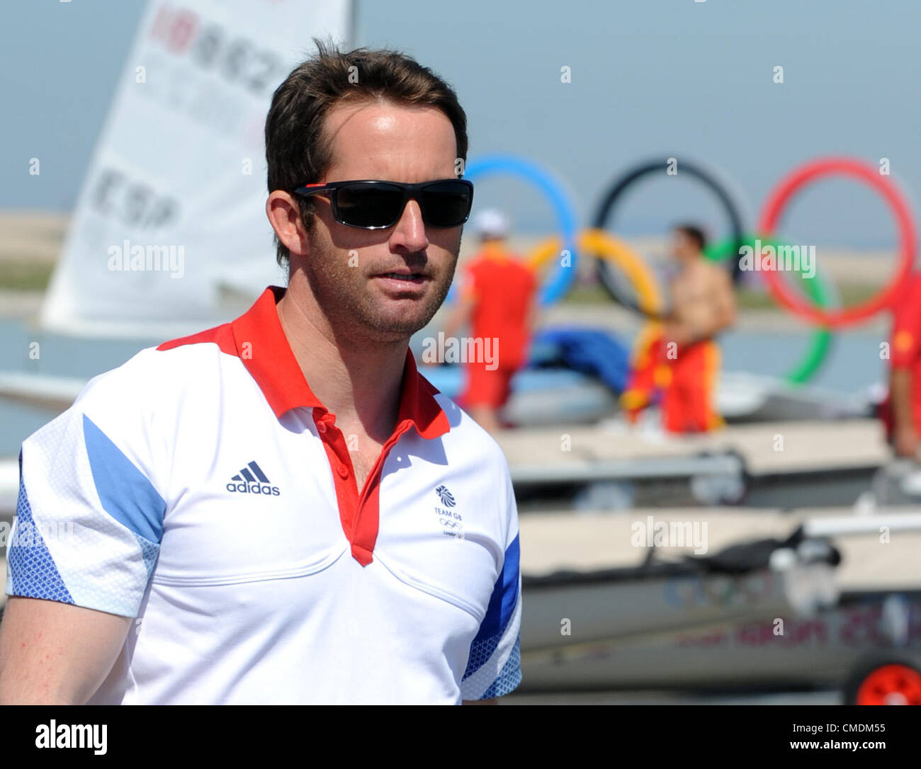 Ben Ainslie at 2012 Olympic Games Stock Photo