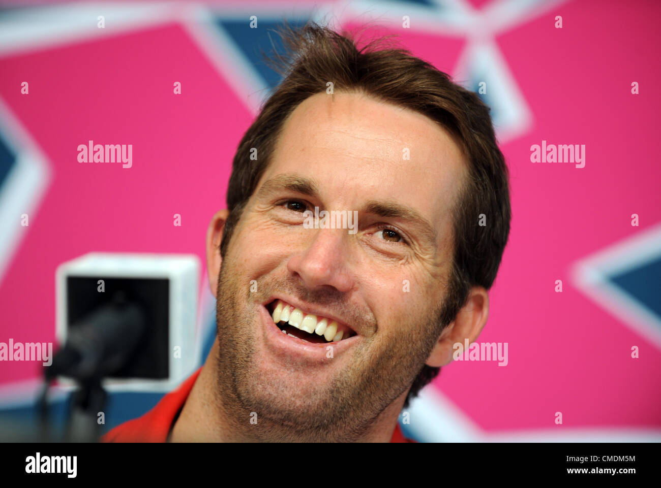 Ben Ainslie at Olympic press conference - Stock Image