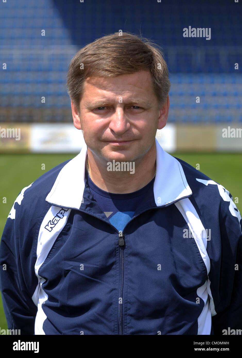 Miroslav Soukup, coach of 1. FC Slovacko, July 25, 2012. (CTK Photo/Zdenek Nemec) Stock Photo