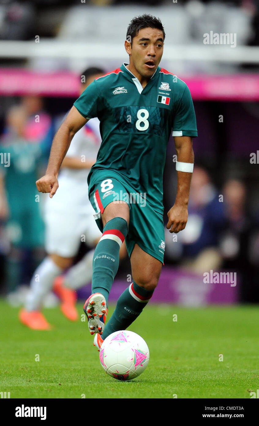 MARCO FABIAN MEXICO MEXICO ST JAMES PARK NEWCASTLE ENGLAND 26 July 2012 - Stock Image