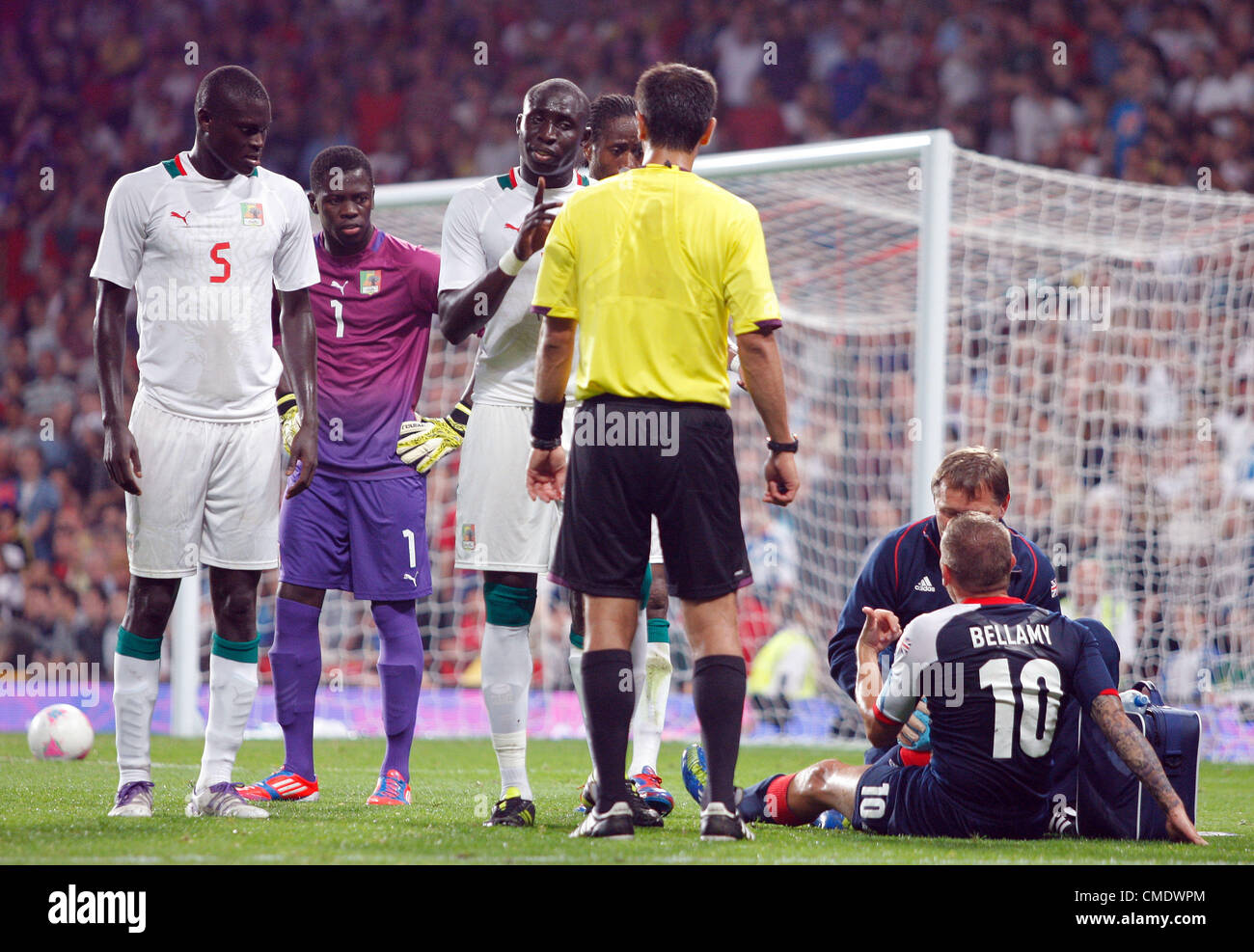 SENEGAL PLAYERS APPEAL AFTER C GREAT BRITAIN V SENEGAL OLD TRAFFORD MANCHESTER ENGLAND 26 July 2012 - Stock Image