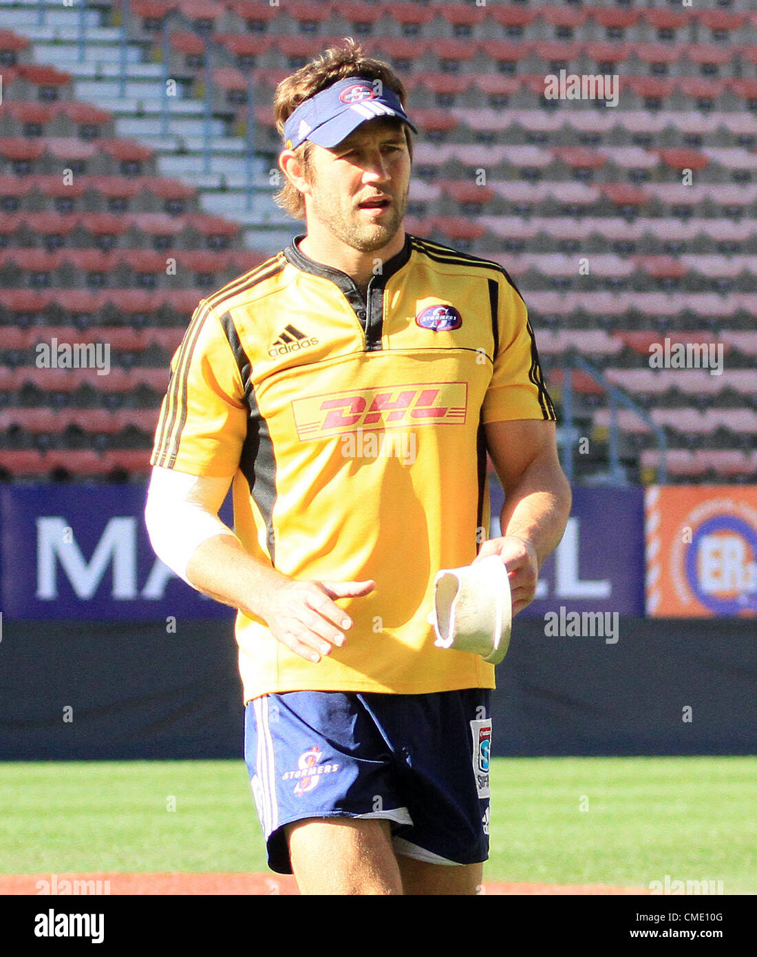 CAPE TOWN, SOUTH AFRICA - JULY 27, Peter Grant during the DHL Stormers captains run from DHL Newlands Stadium on - Stock Image