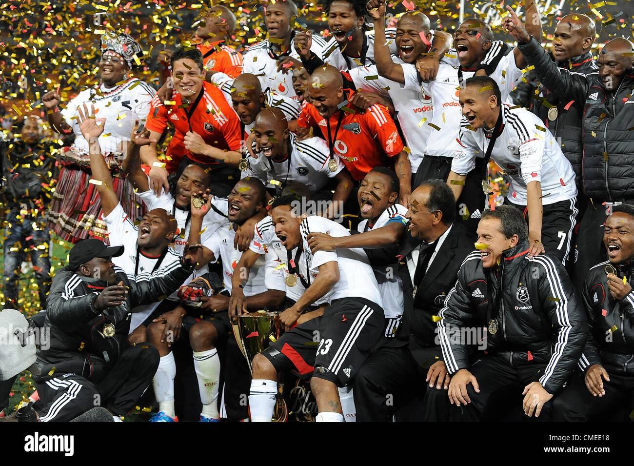 JOHANNESBURG, SOUTH AFRICA - JULY 28, Orlando Pirates players Stock
