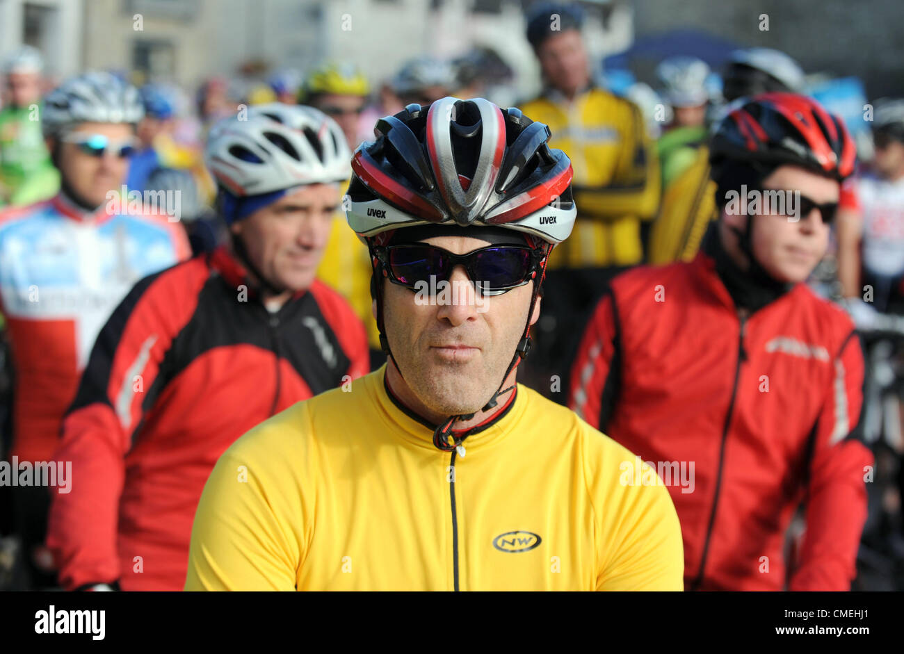 Sunday 29th  July, 2012. The An Post Meath Heritage Cycle Tour 2012 got underway at Trim, County Meath. Over 3,000 - Stock Image