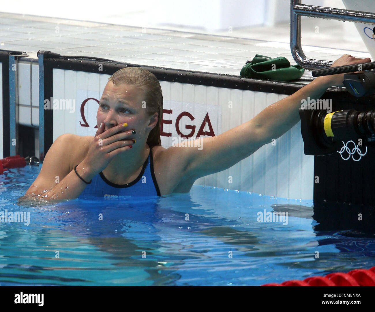 RUTA MEILUTYTE WINS GOLD LITHUANIA STRATFORD ENGLAND 30 July 2012 - Stock Image