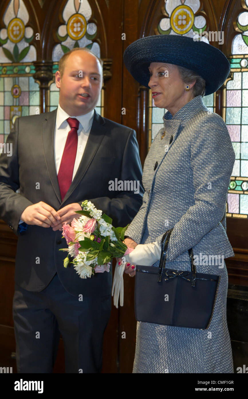 Her Royal Highness Princess Benedikte of Denmark  visited Northampton today Wednesday, 1 August 2012 to mark the - Stock Image