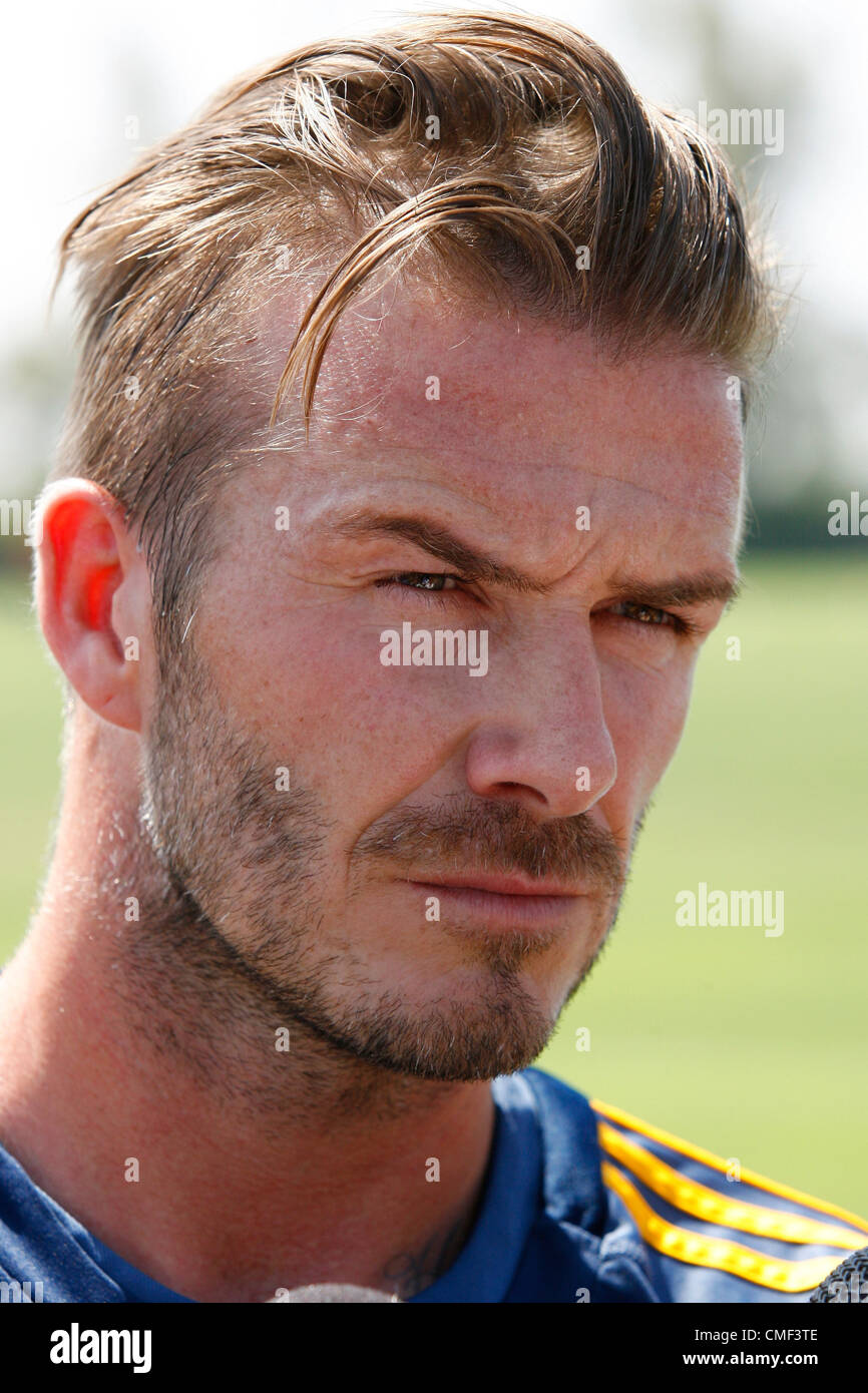 DAVID BECKHAM BACK IN LOS ANGELES CARSON CALIFORNIA USA 01 August 2012