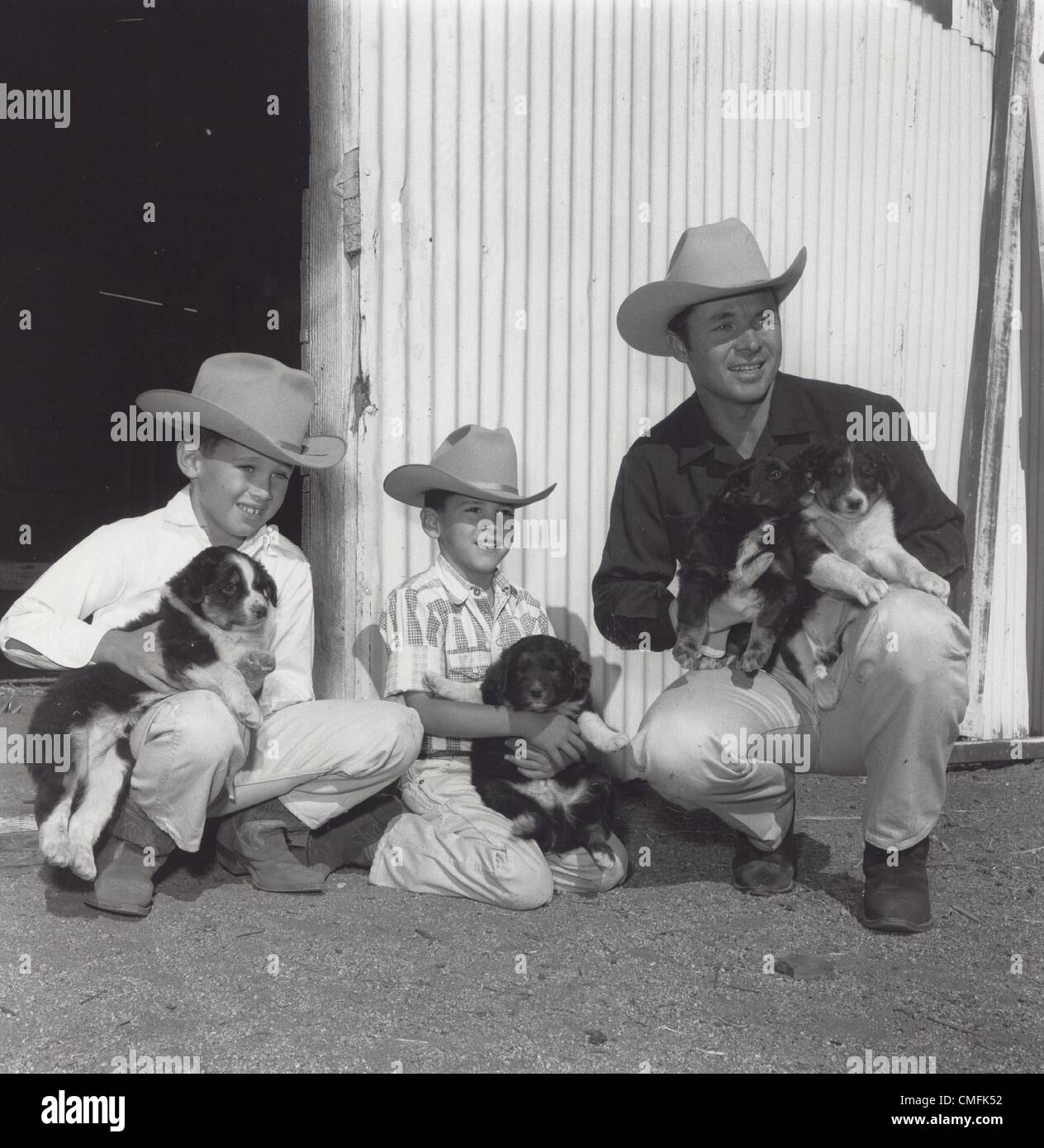 Audie Murphy With Sons Sons James Shannon Murphy Terry