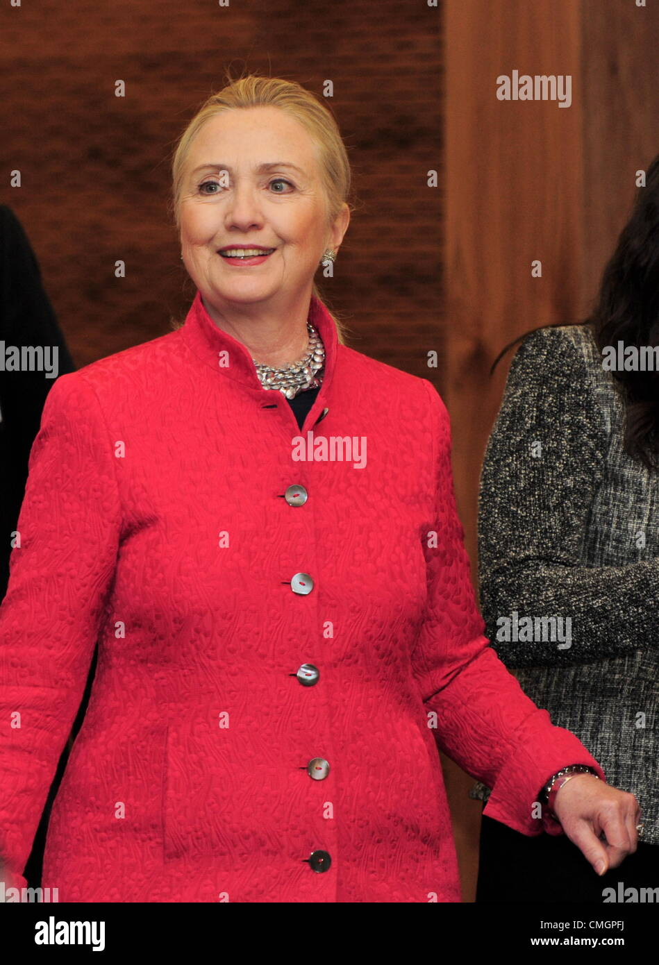 PRETORIA, SOUTH AFRICA: The United States Secretary of State Hillary Clinton during the second meeting of the South - Stock Image