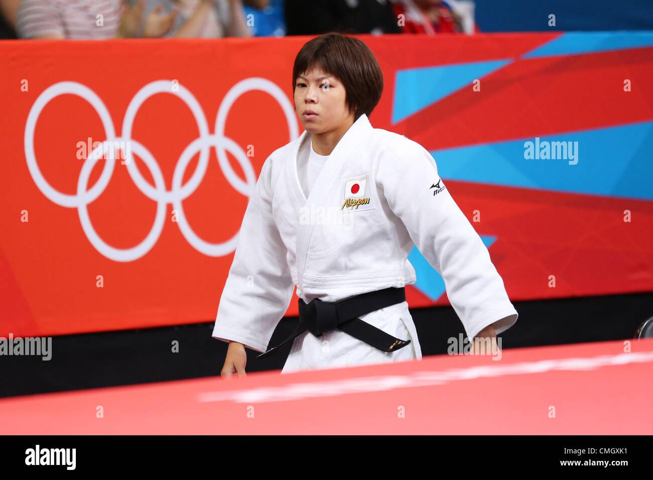 Tomoko Fukumi (JPN),  JULY 28, 2012 - Judo :  Women's -48kg  at ExCeL  during the London 2012 Olympic Games - Stock Image