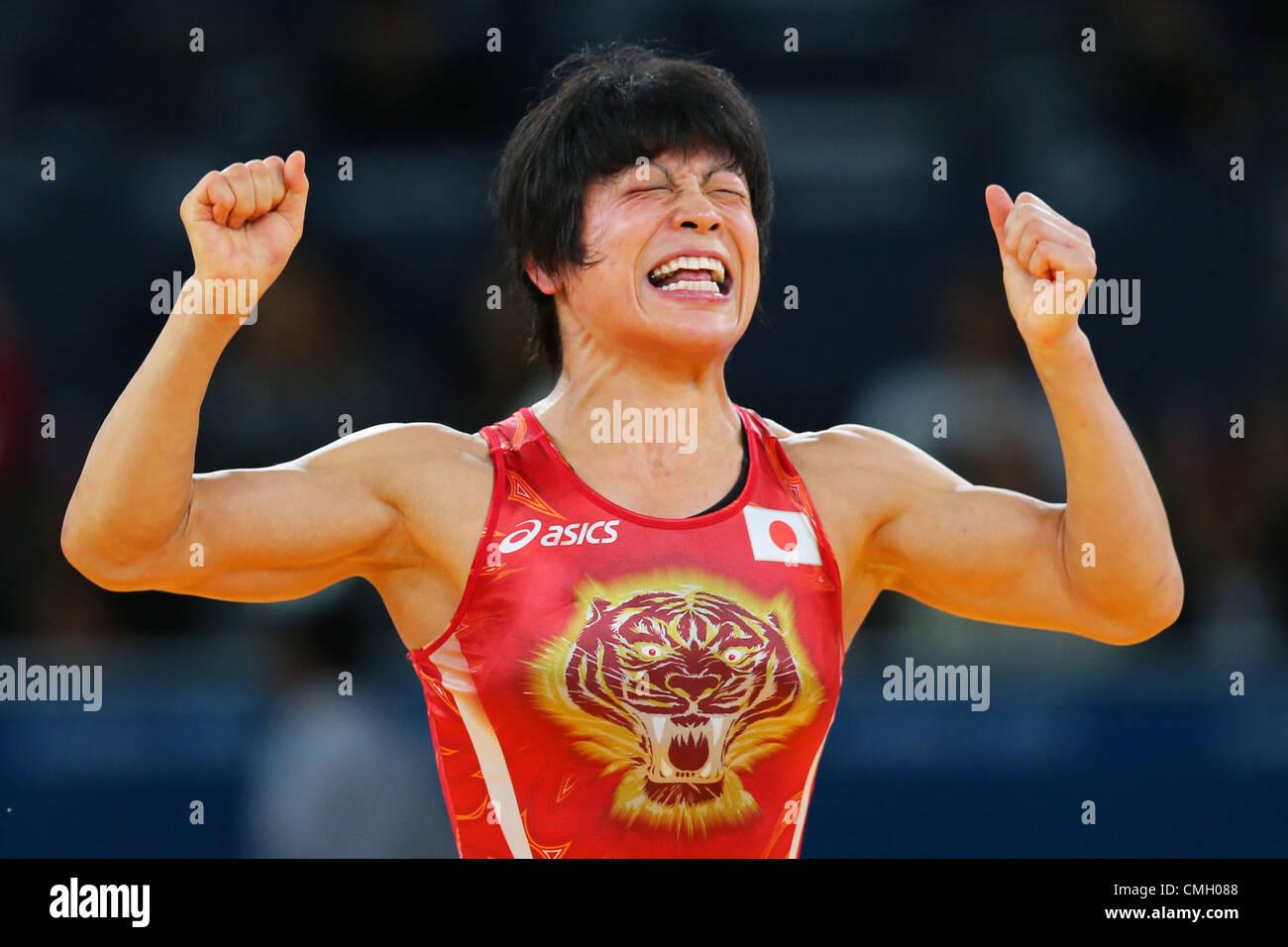 Hitomi Obara (JPN), AUGUST 8, 2012 - Wrestling : Women's 48kg Stock