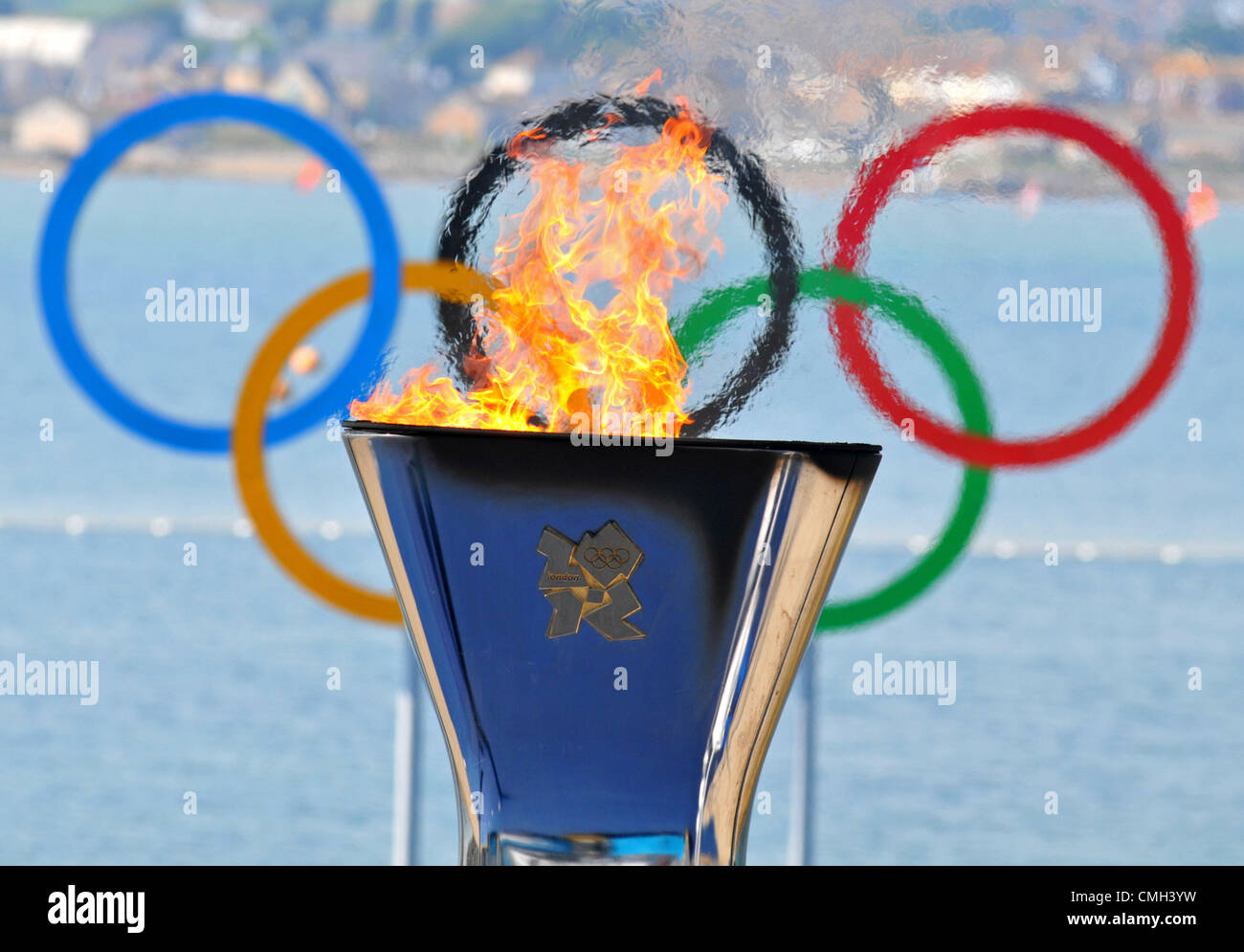 9th Aug 2012. London 2012 Olympics: Sailing. London 2012 Olympic Games at the Weymouth & Portland Venue, Dorset, - Stock Image