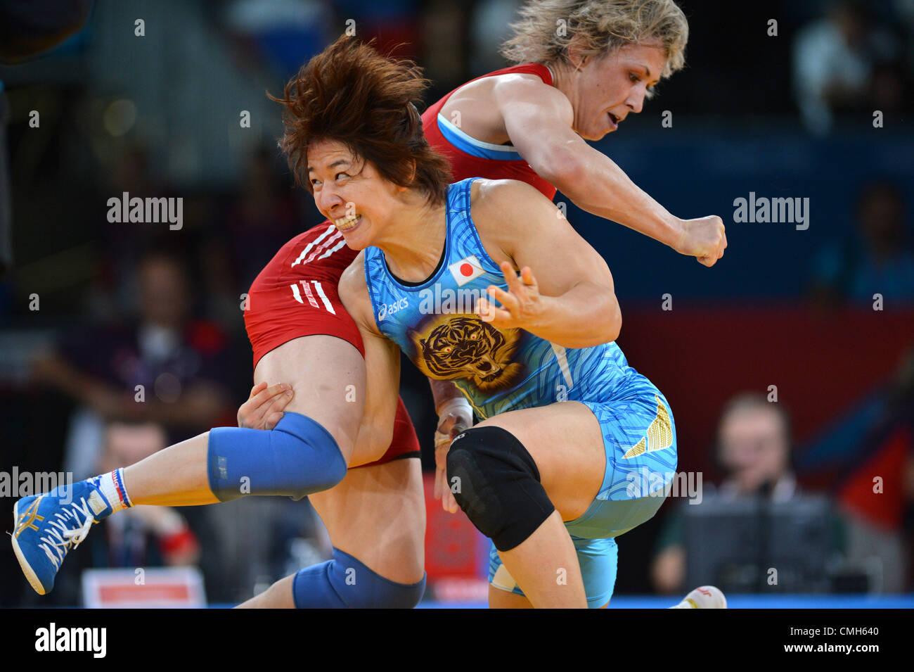 Kyoko Hamaguchi (JPN), AUGUST 9, 2012 - Wrestling : Women's 72kg