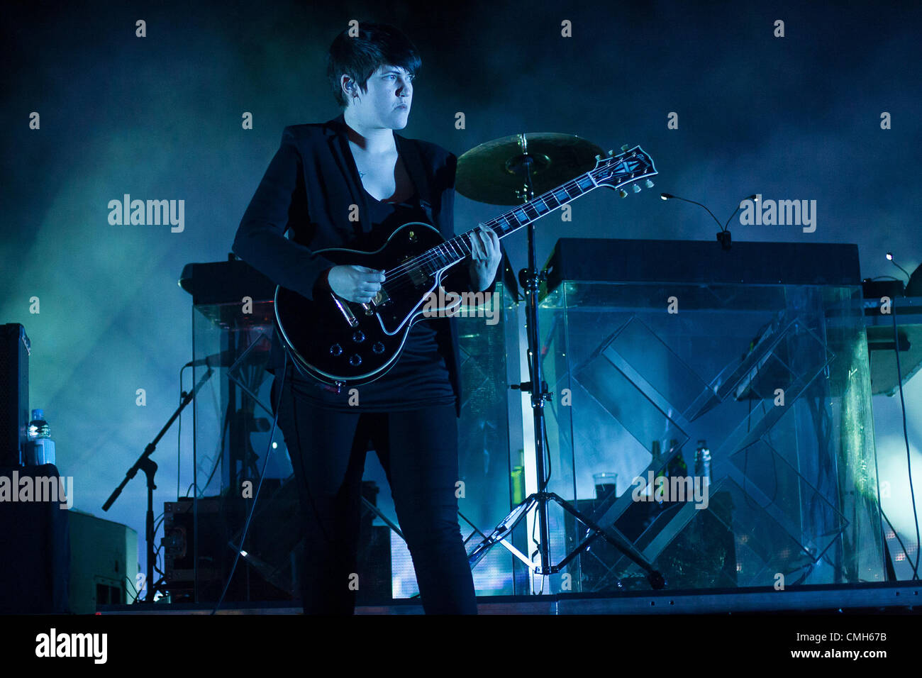 SIBENIK, CROATIA, Thursday, August 9, 2012. The XX perform at the Terraneo Summer Eco Music Festival in Sibenik, - Stock Image