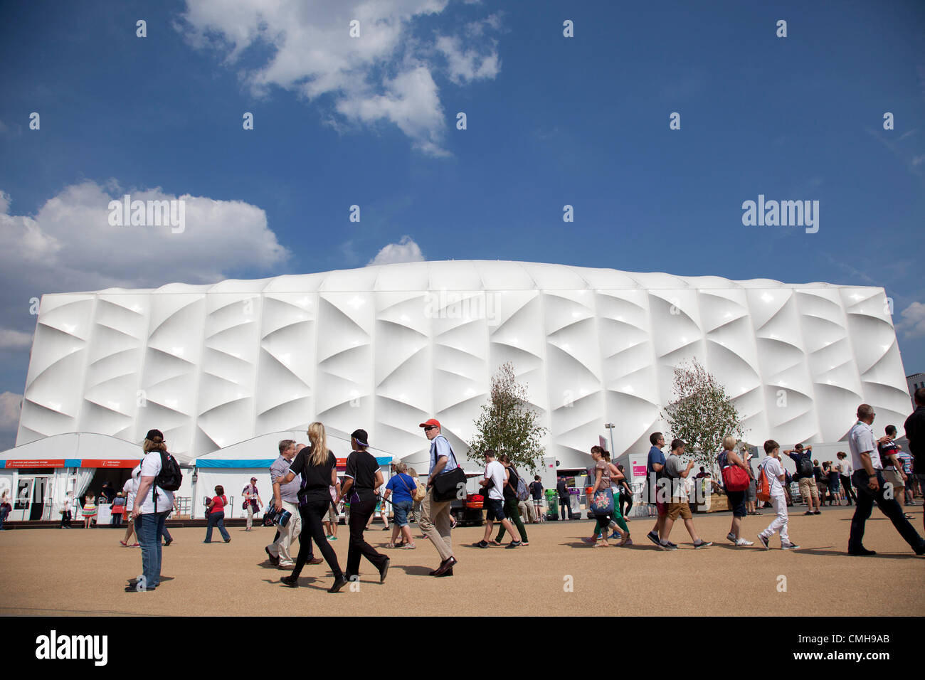 London, UK. Thursday 9th August 2012. London 2012 Olympic Park in Stratford, East London. The Basketball Arena. - Stock Image