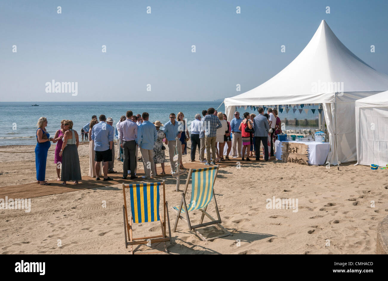 A Wedding Reception On A Summer Morning By The Sea Bournemouth West