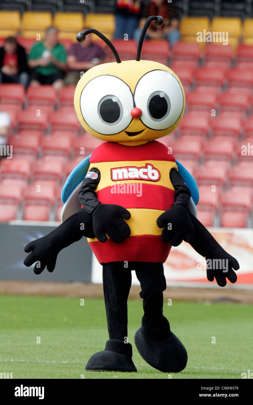 11th Aug 2012. 11.08.2012 Glasgow, Scotland. Partick Thistle mascot during the Scottish Football League Division - Stock Image