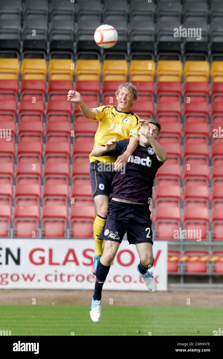 11th Aug 2012. 11.08.2012 Glasgow, Scotland.  Partick Thisle's 2 Stephen O'Donnel in action during the Scottish - Stock Image