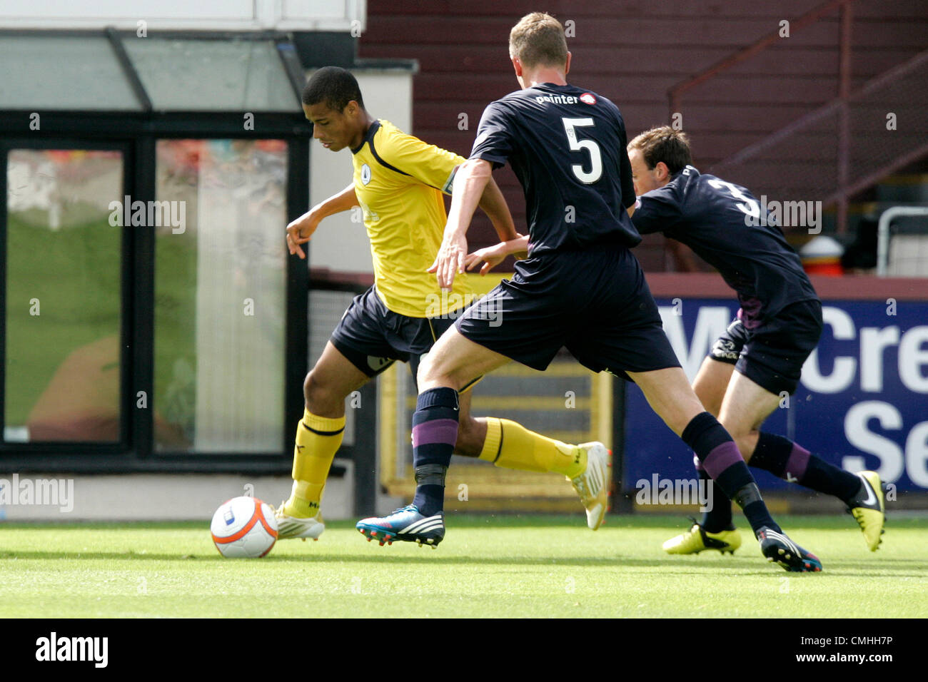 11th Aug 2012. 11.08.2012 Glasgow, Scotland. Falkirk's 9 Lyle Taylor in action during the Scottish Football - Stock Image