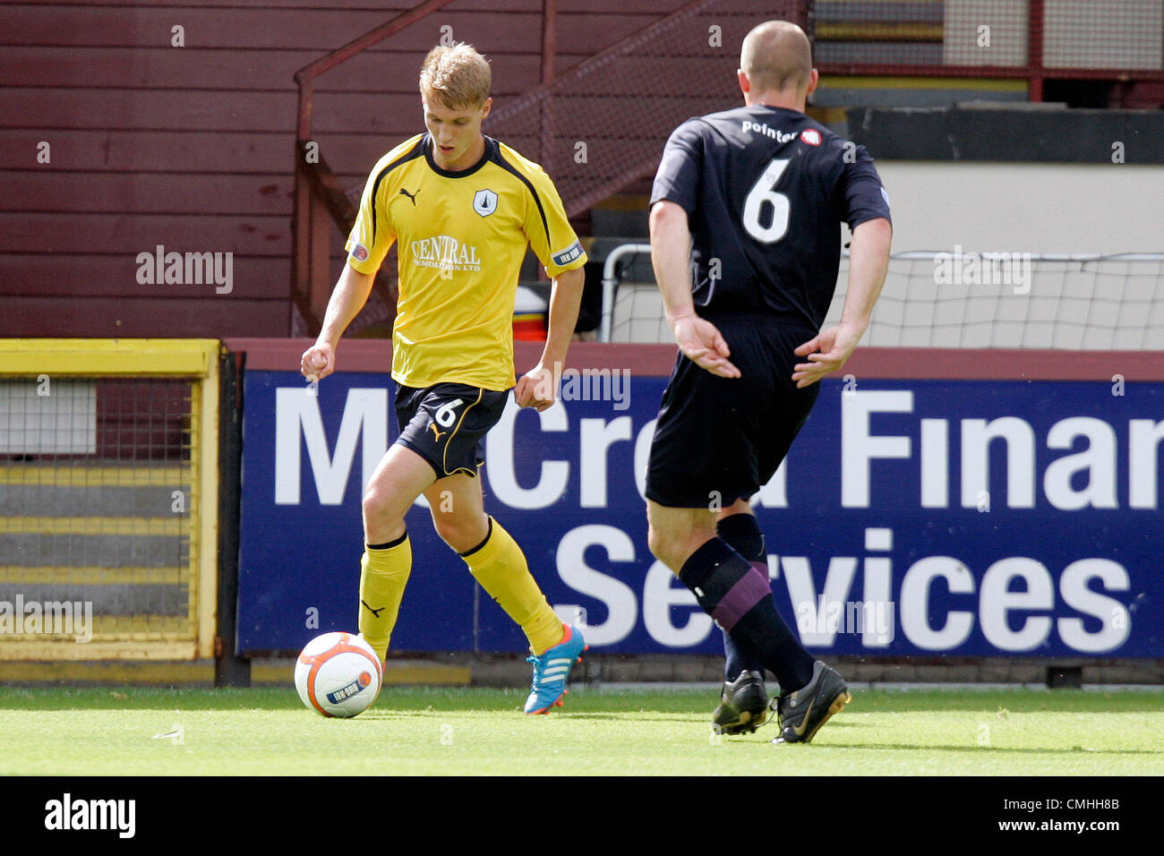 11th Aug 2012. 11.08.2012 Glasgow, Scotland. 6 Jay Fulton in action during the Scottish Football League Division - Stock Image