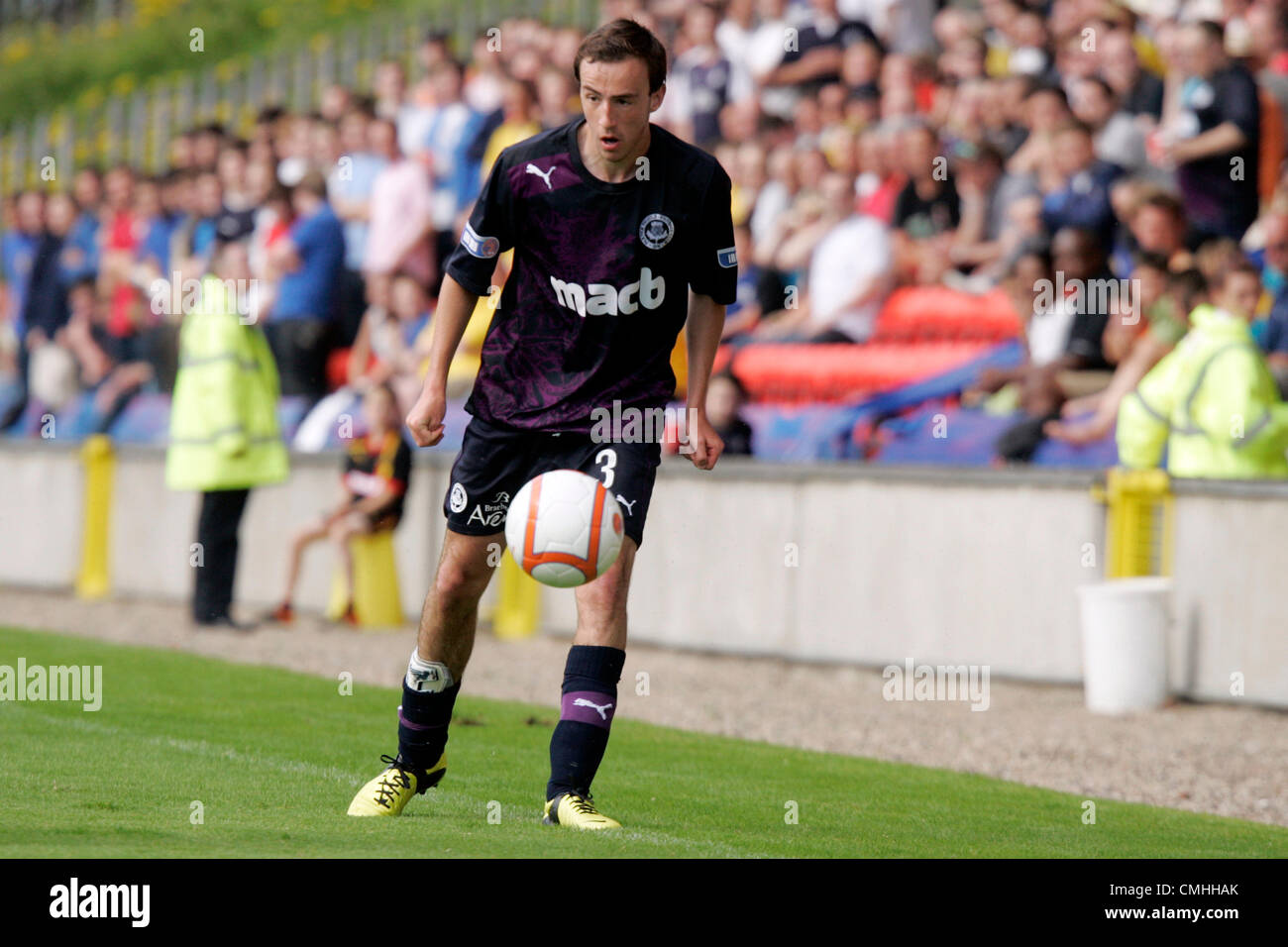 11th Aug 2012. 11.08.2012 Glasgow, Scotland.  3 Stewart Bannigan in action during the Scottish Football League Division - Stock Image