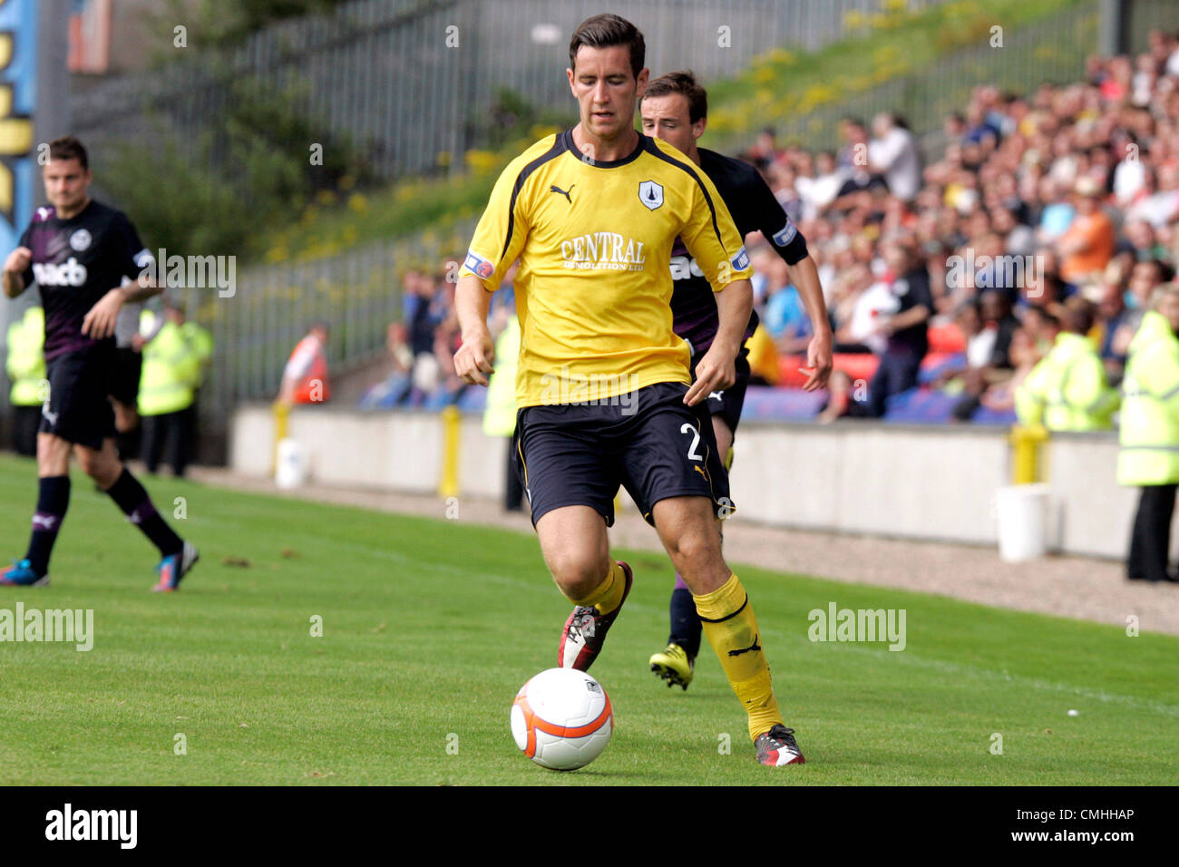 11th Aug 2012. 11.08.2012 Glasgow, Scotland. 2 Kieran Duffie in action during the Scottish Football League Division - Stock Image