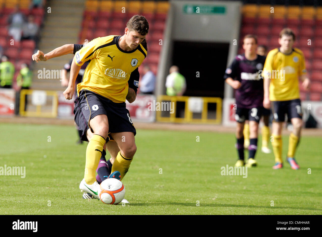 11th Aug 2012. 11.08.2012 Glasgow, Scotland. 8 Stewart Murdoch in action during the Scottish Football League Division - Stock Image