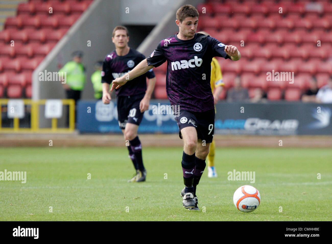 11th Aug 2012. 11.08.2012 Glasgow, Scotland.  9 Kris Doolan in action during the Scottish Football League Division - Stock Image