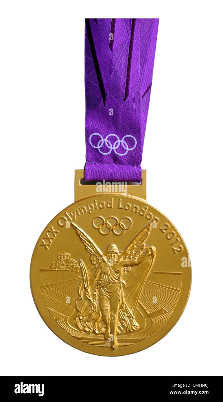 London 2012 Olympics, Olympic 2012 gold medal - Stock Image