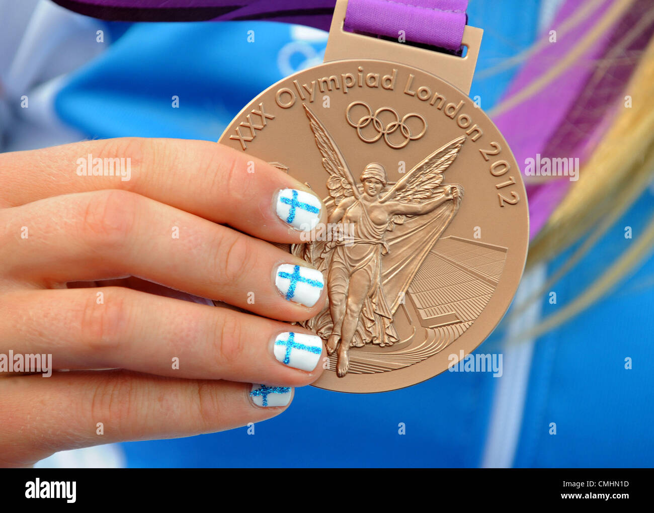 London 2012 Olympics, Sailing at the Weymouth & Portland Venue, Dorset, Britain, UK.  August 11th, 2012 Olympic - Stock Image