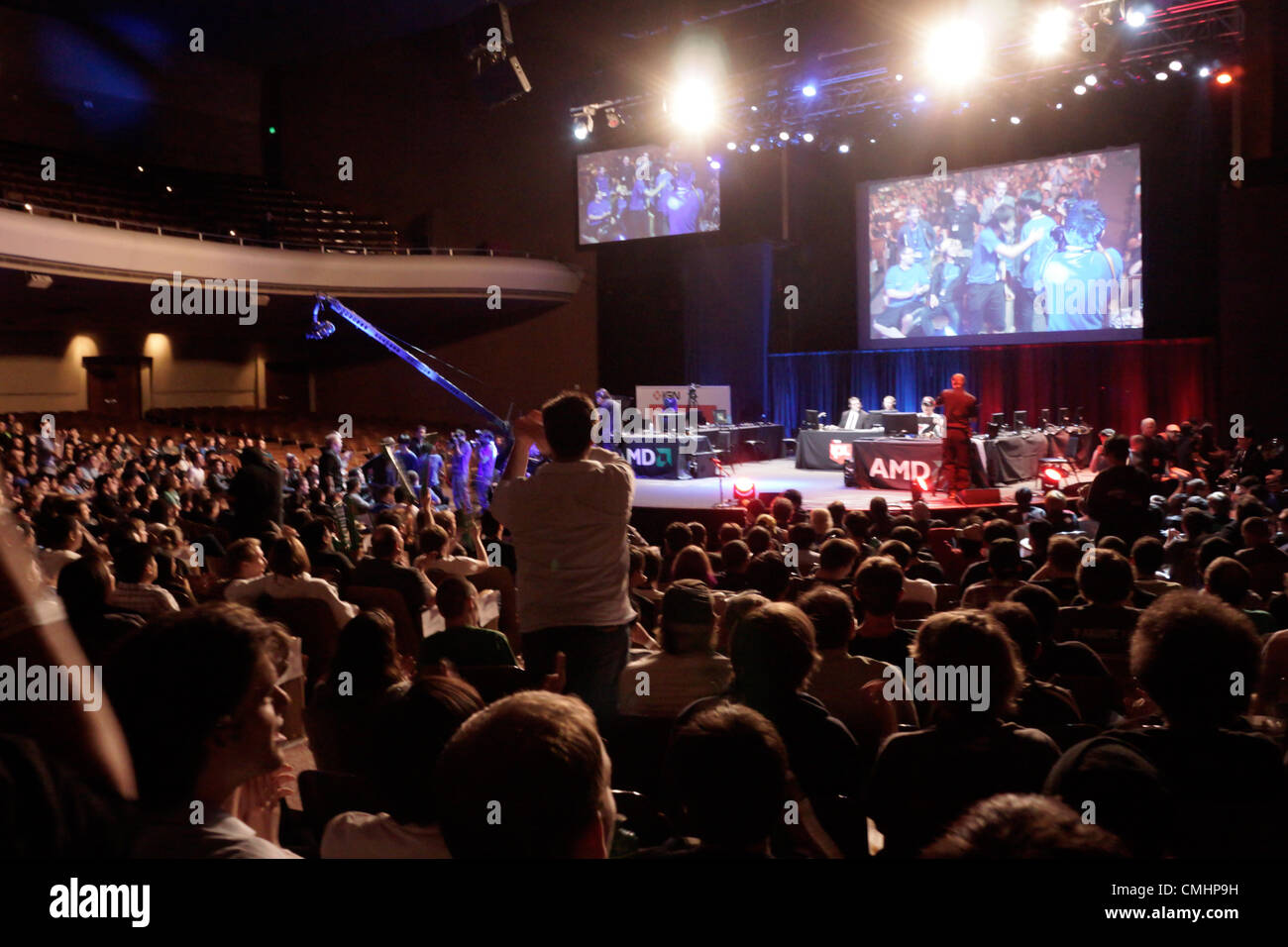 August 11, 2012. San Francisco, USA. IPL Faceoff, Starcraft 2 Team League Arena at Masonic Center in San Francisco. - Stock Image