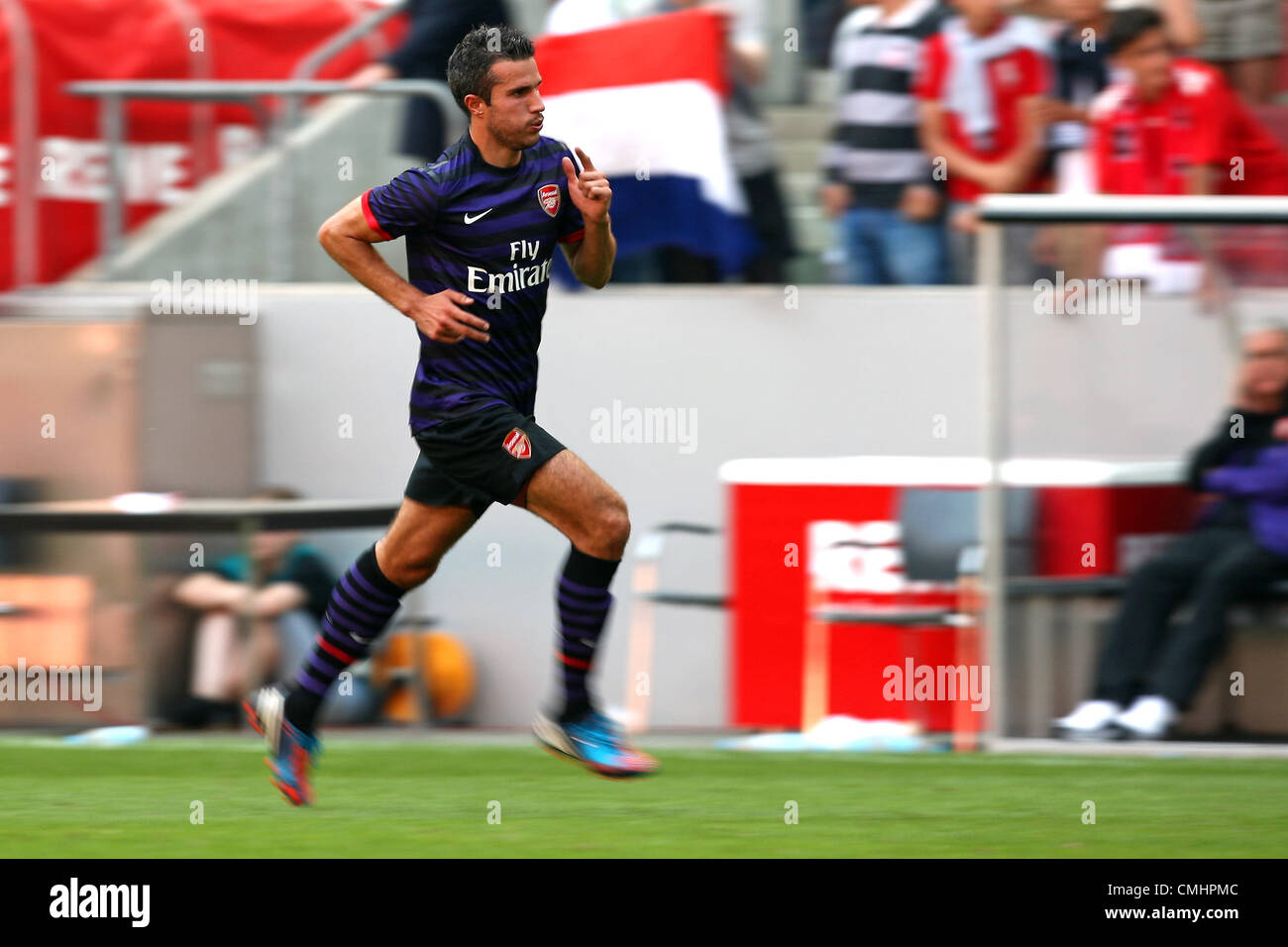 12.08.2012. Cologne, Germany.  Arsenal's Robin van Persie during the preseaon friendly match between FC Cologne - Stock Image