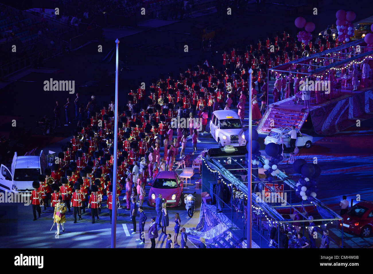 LONDON, ENGLAND - AUGUST 12, the military march during the closing ceremony of the London 2012 Olympic Games at - Stock Image