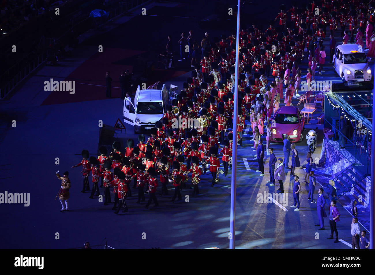 LONDON, ENGLAND - AUGUST 12, the military march during the closing ceremony of the London 2012 Olympic Games at Stock Photo