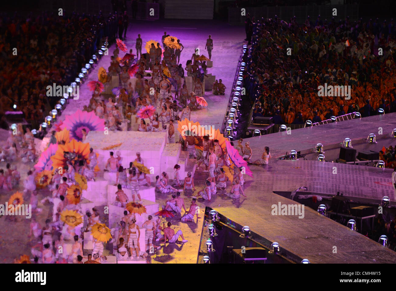 LONDON, ENGLAND - AUGUST 12, a general view during the closing ceremony of the London 2012 Olympic Games at the - Stock Image
