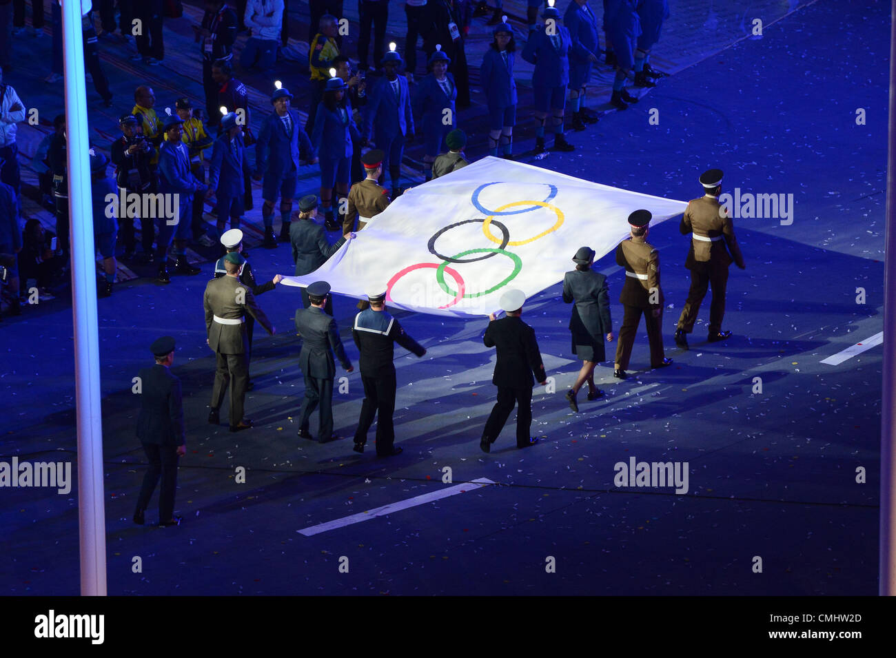 The closing ceremony of the London 2012 Olympic Games on 12 August 2012 - Stock Image