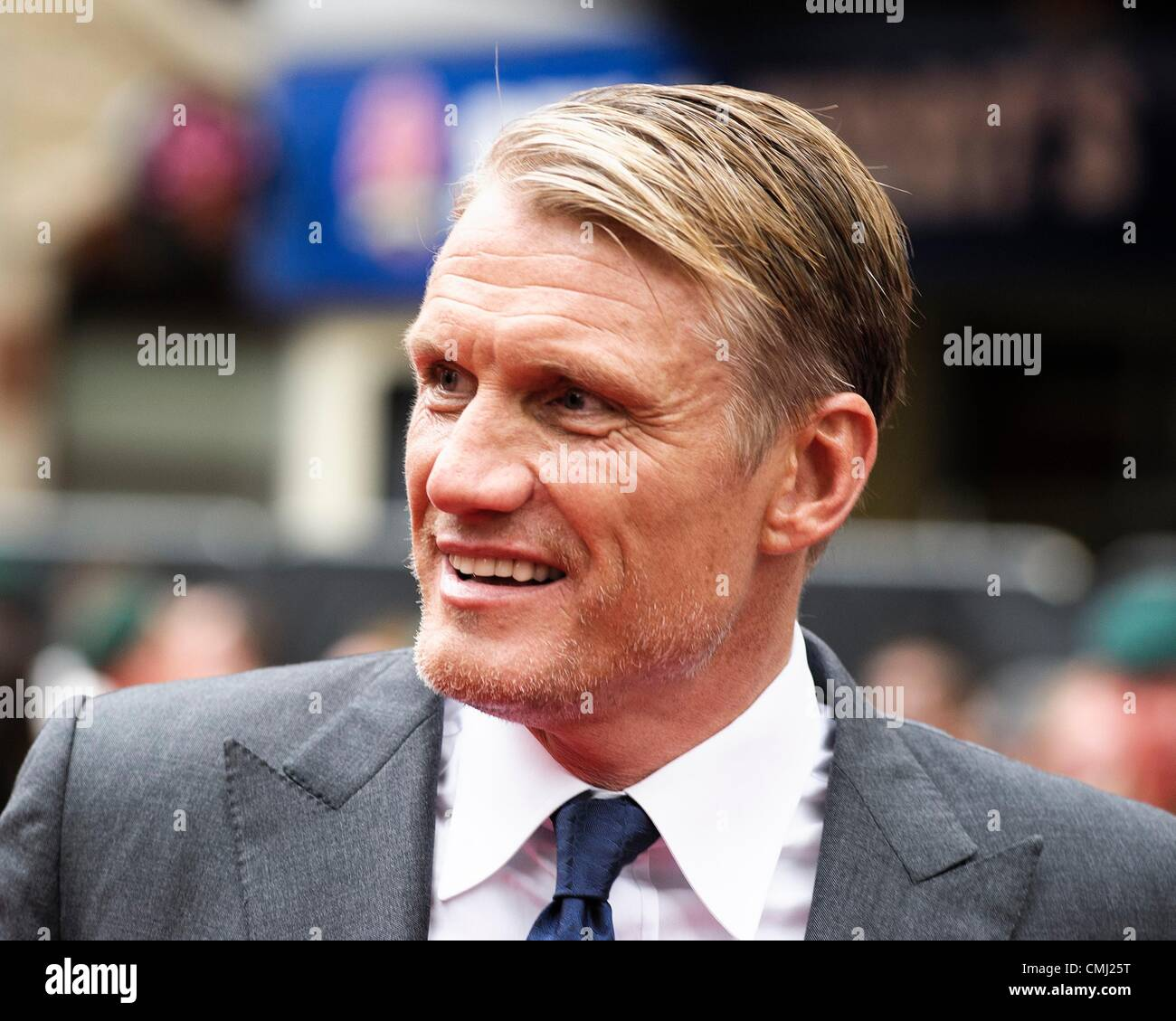 13th Aug 2012. Dolph Lundgren attends UK Premiere of the film Expendables 2 on 13/08/2012 at The Empire Leicester - Stock Image