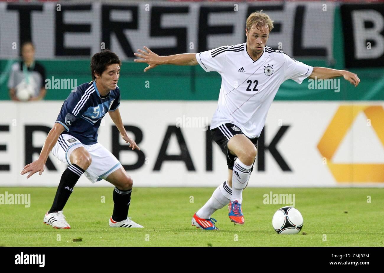 14 08 2012  Hess country ger U21 international match Germany vs Argentina 14 08 12 Offenbach at Main Stadium Bieberer - Stock Image