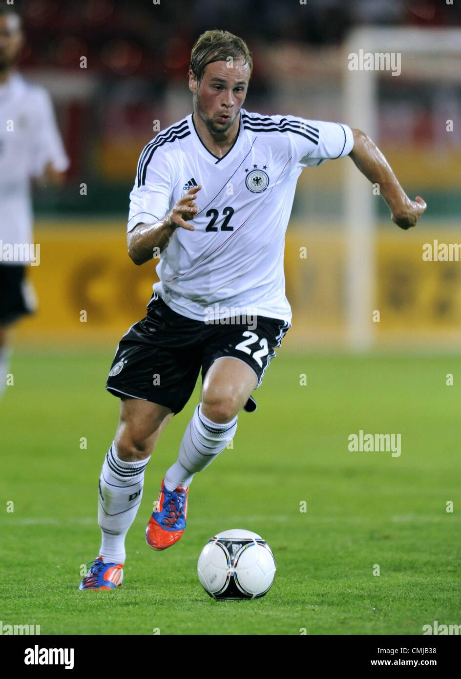 14.08.2012. Offenbach, Germany.  U21 international match in Sparda Bank Hesse Stadium in Offenbach Germany versus - Stock Image